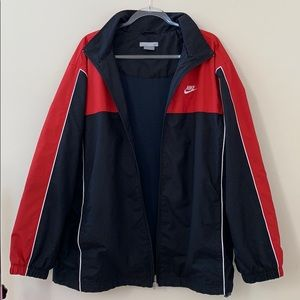 Nike Red And Black Color Block Jacket Size XL